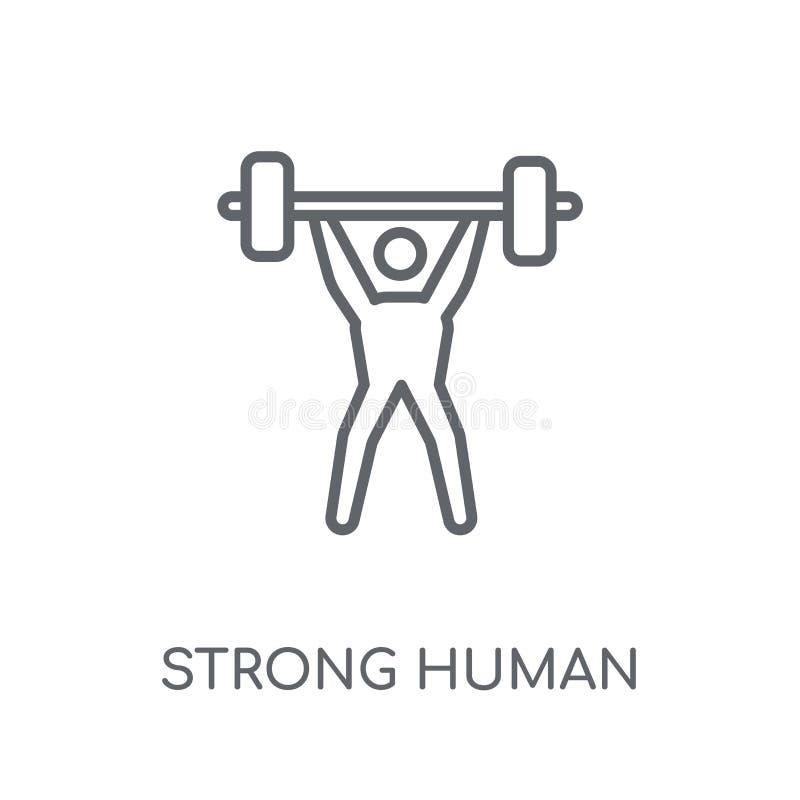 stark mänsklig linjär symbol Stark mänsklig logoconce för modern översikt vektor illustrationer