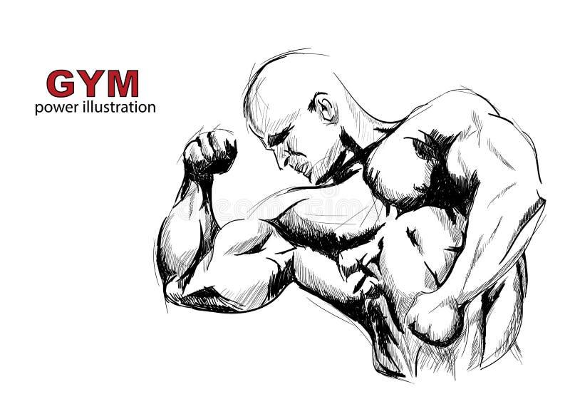 Download Stark man vektor illustrationer. Illustration av vikt - 27280513