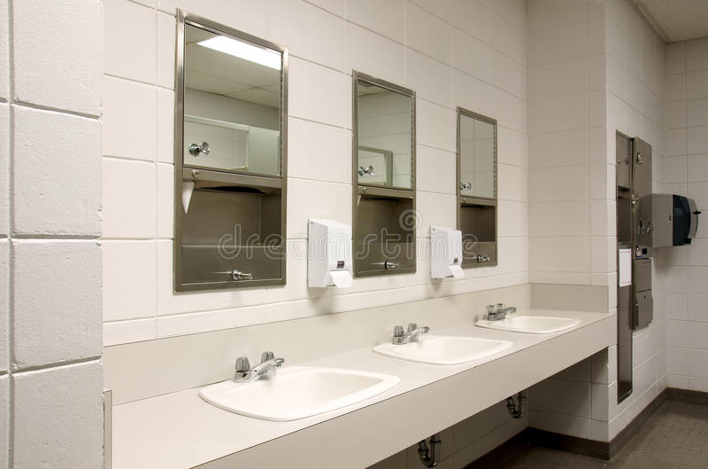 Stark public bathroom royalty free stock image