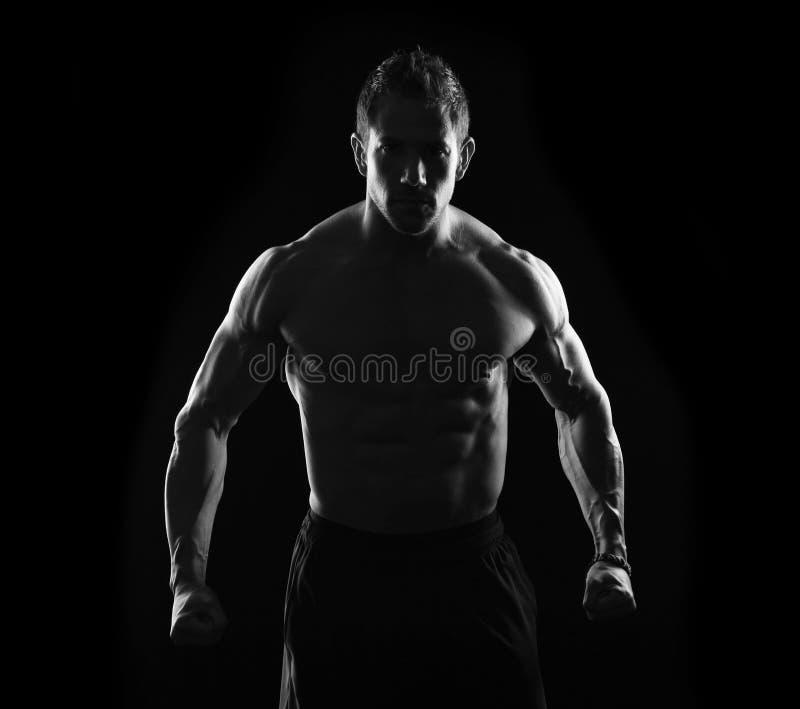 Stark strong man royalty free stock photos