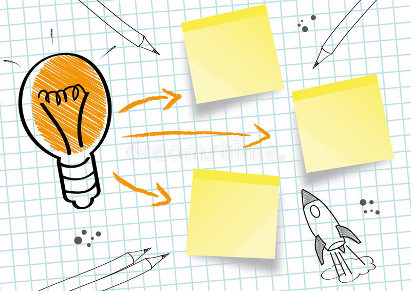 Starka idéer vektor illustrationer