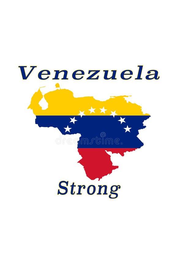 Starka Venezuela royaltyfri illustrationer