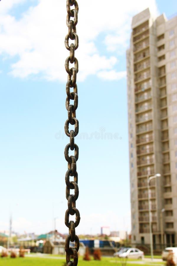 Starke Eisenkette stockfotos