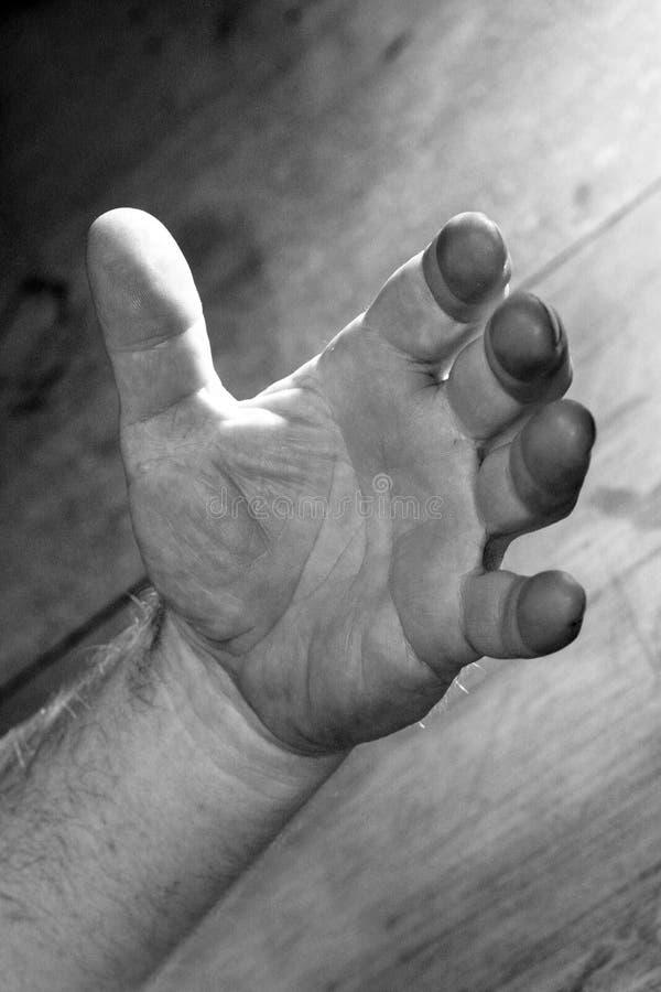 Starke geöffnete Hand stockbilder
