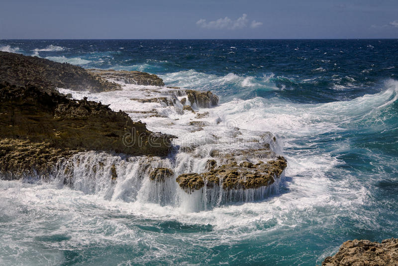 Starke Küste stockfotos
