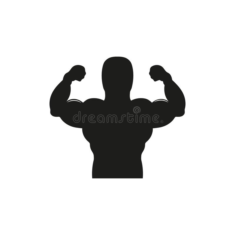 Starke Macht, Muskel bewaffnet Ikone lizenzfreie abbildung
