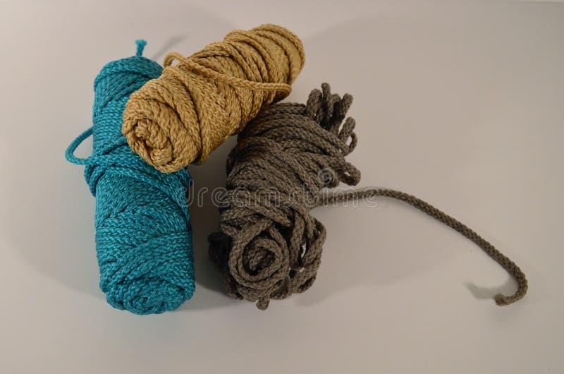 Starke mehrfarbige Crafting Cord Skeins lizenzfreie stockfotografie
