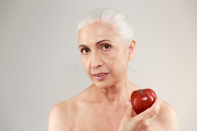 Nackte Frau Und Alter Mann Spielen