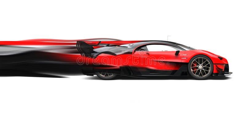 Starke rote Superrennwagengeschwindigkeitsspuren vektor abbildung