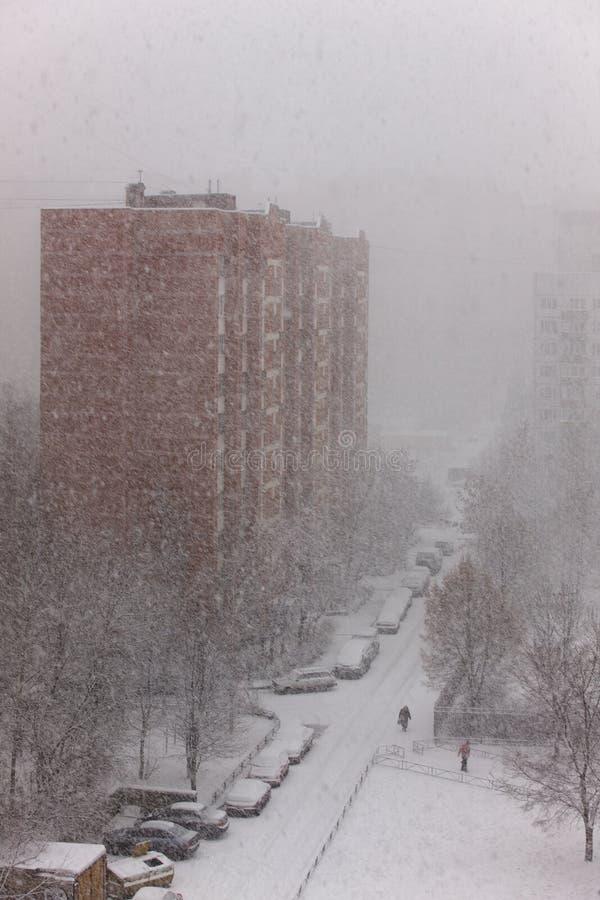 Starke Schneefälle stockbilder