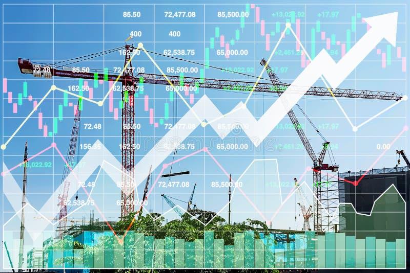 Starke und Aktienindex-der Auswirkung Datenanalyse der Geschäftsdarstellung lizenzfreies stockbild