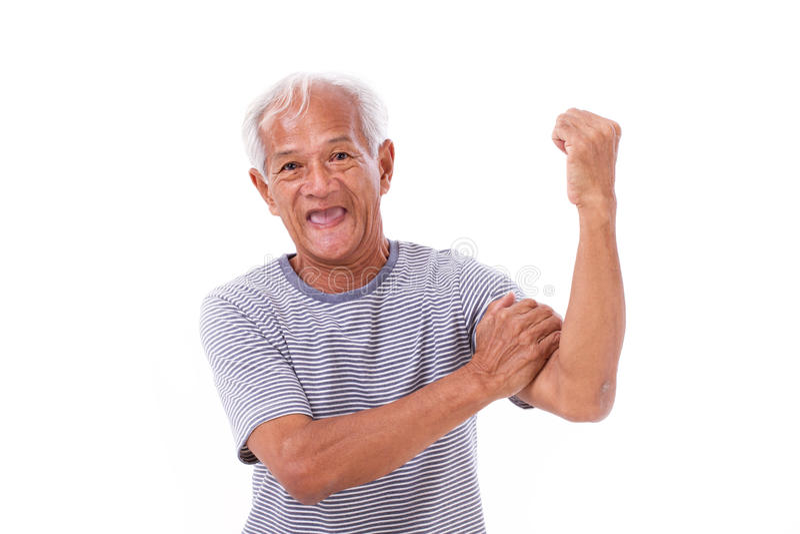 Starker alter Mann stockbilder