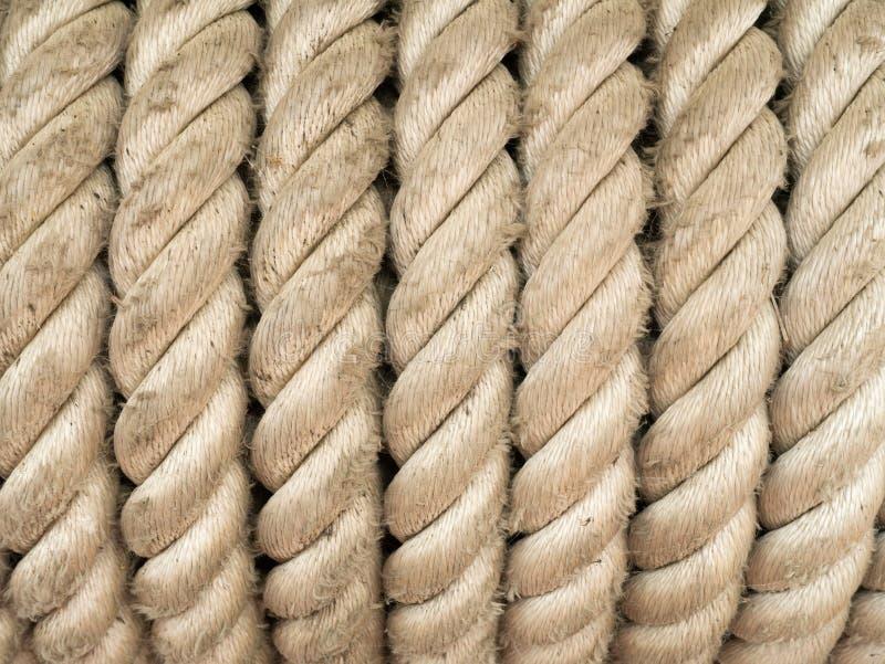 Starker aufgerollter Seil-Hintergrund lizenzfreie stockfotografie