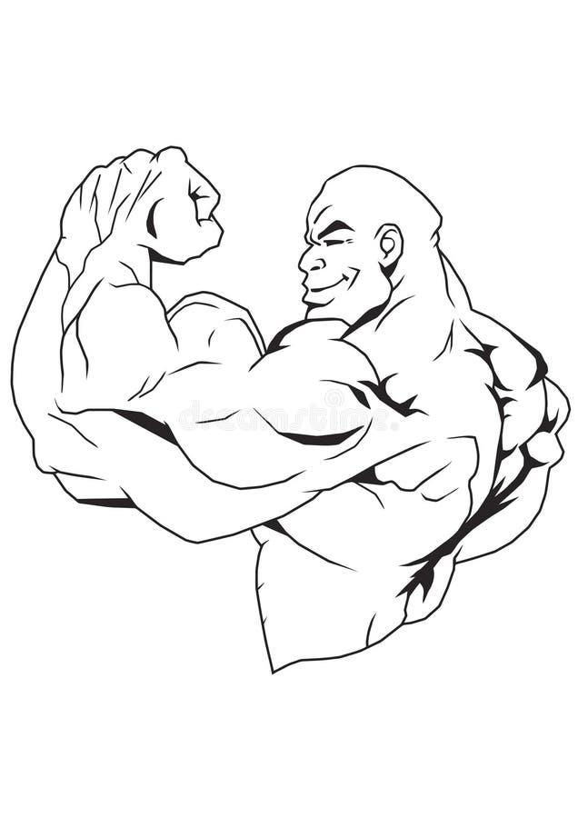 Starker Bodybuilder stock abbildung