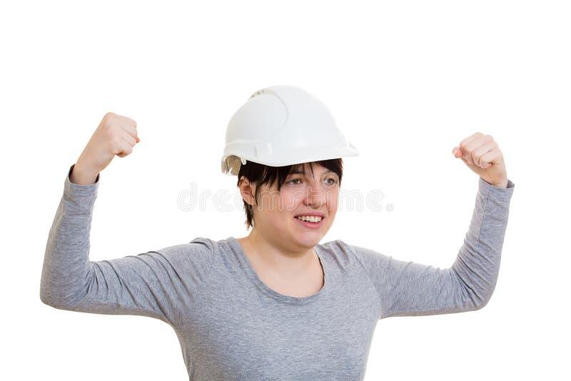 Starker Fraueningenieur lizenzfreie stockfotos