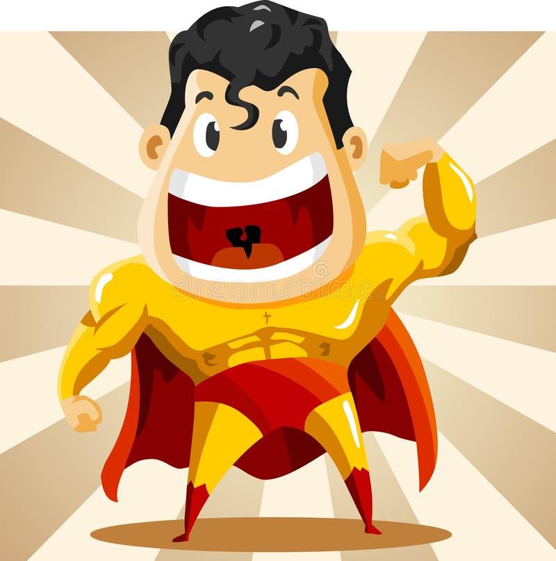 Starker Superheld vektor abbildung