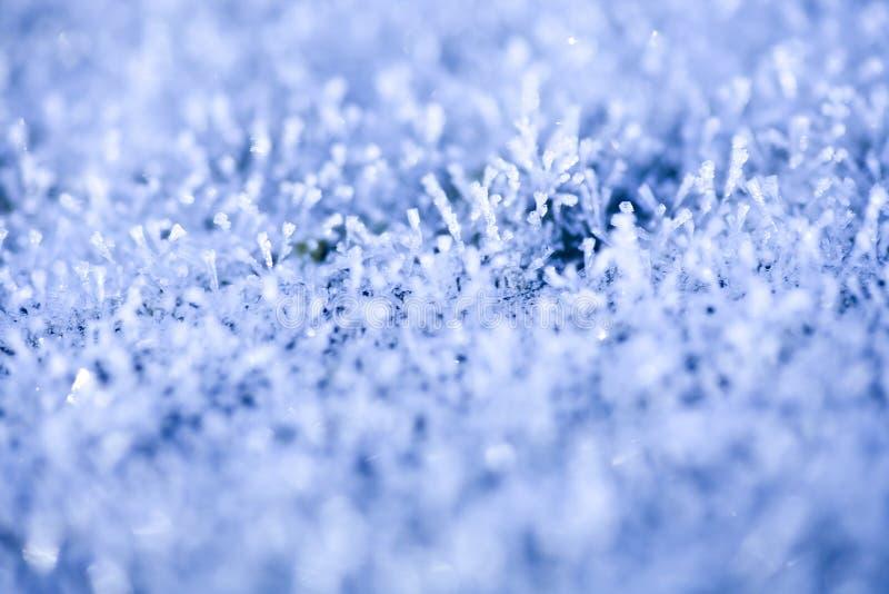 Starker Winter-Frost-Hintergrund stockfotografie