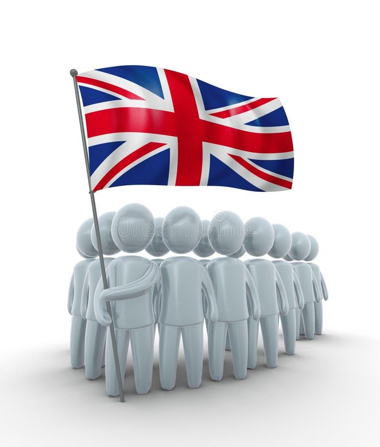 Starkes Großbritannien stock abbildung
