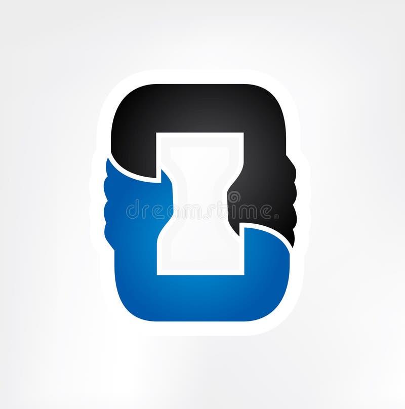 Starkes Partnerschaftsteamwork-Händchenhalten lizenzfreie abbildung