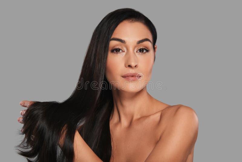 Starkes und schönes Haar stockbilder