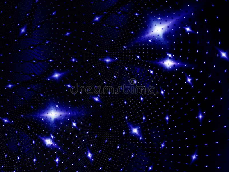 Starlight night vector illustration