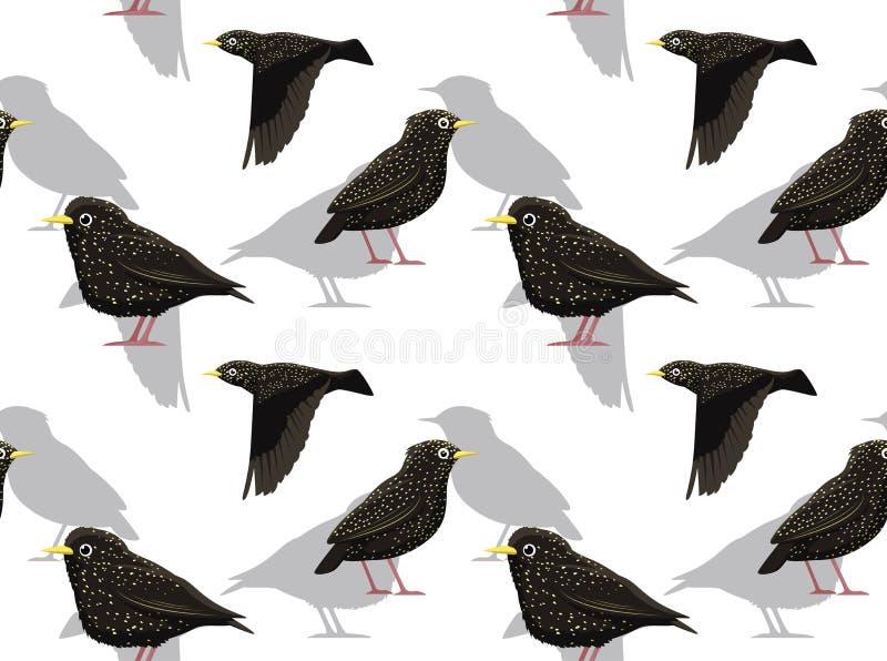 Starling Background Seamless Wallpaper comum ilustração stock