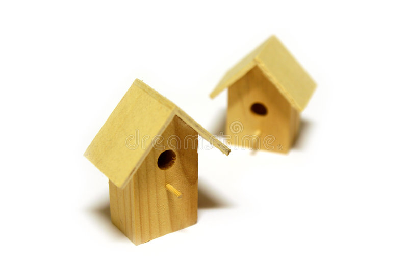 Starling-houses royalty free stock image