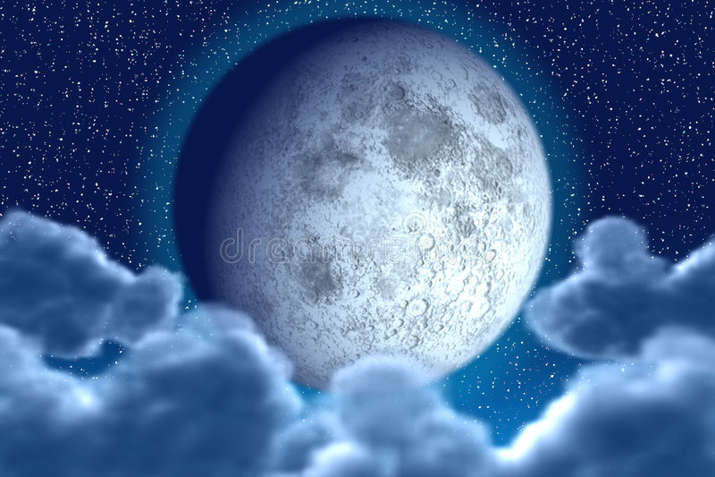 Starlit nacht vector illustratie