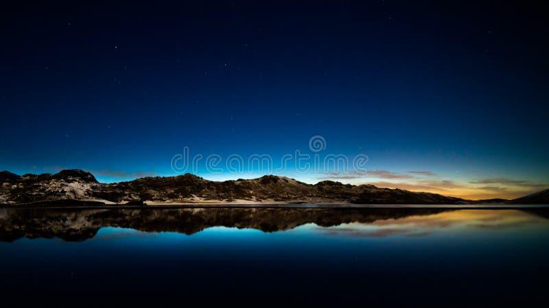 Download Starlit sky. stock image. Image of dark, star, moon, mountain - 30621837