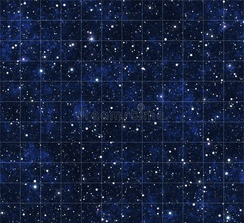 starmapstjärnor för ytterkant avstånd royaltyfri illustrationer