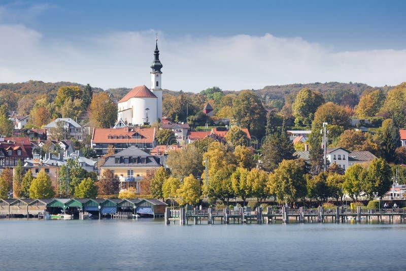 Starnberg bij de herfst royalty-vrije stock foto's