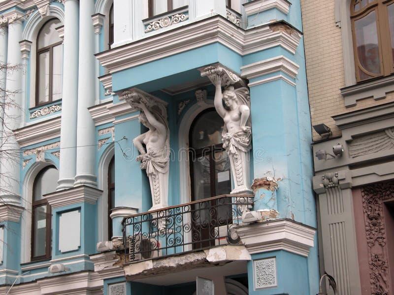 starożytna architektury szczegóły Kiev rezydencji. zdjęcia stock