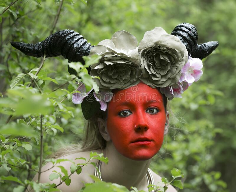 Starożytna bogini lasu zdjęcia stock