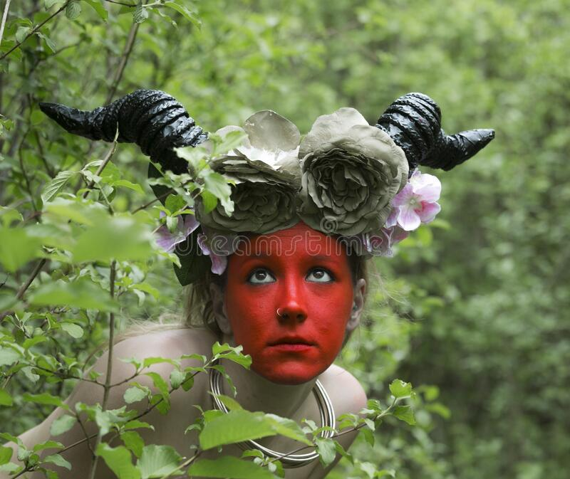 Starożytna bogini lasu obrazy royalty free