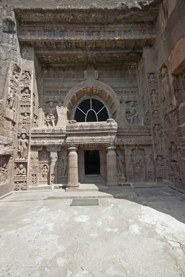 starożytna dłoni rock świątyni zdjęcia stock