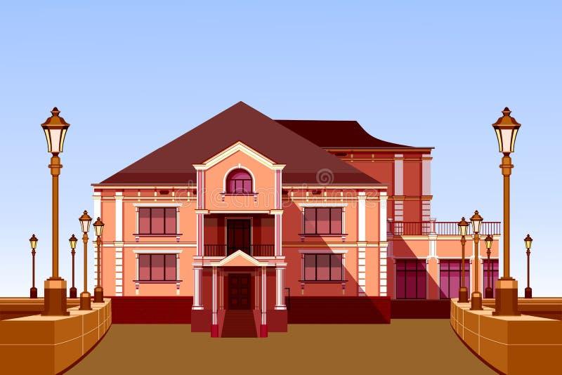 starożytna manor royalty ilustracja