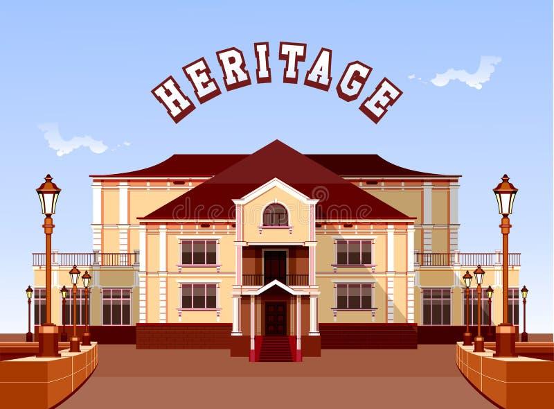 starożytna manor ilustracji