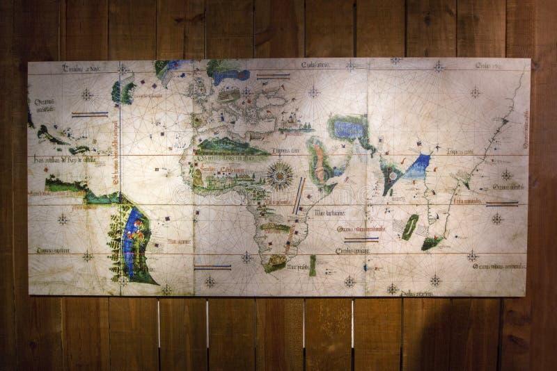 starożytna mapa świata obraz stock