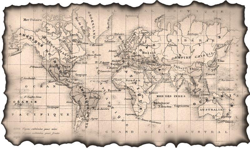 starożytna mapa świata obraz royalty free