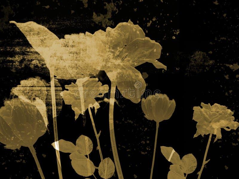 starożytna sztuka grzywien kwiat ilustracja ilustracja wektor