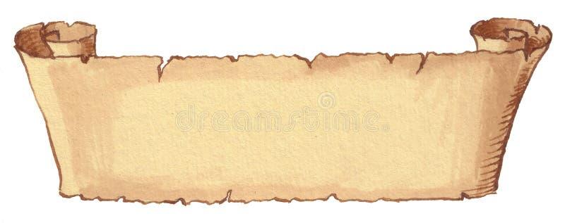 starożytna zwoju ilustracji