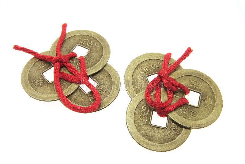 starożytne chińskie monety obraz stock