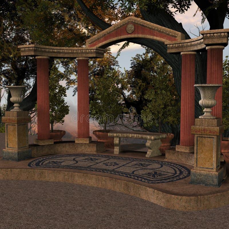 starożytne miejsce ilustracja wektor