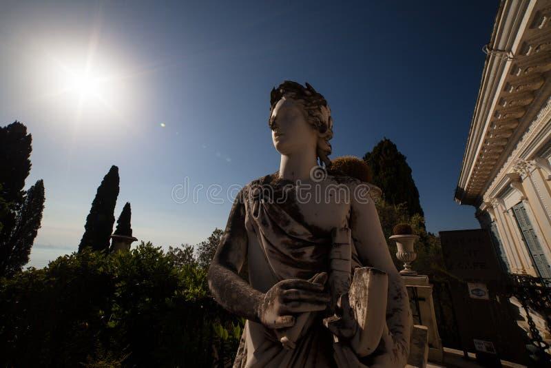 starożytnego grka muse mityczna pokazywać statua zdjęcie stock