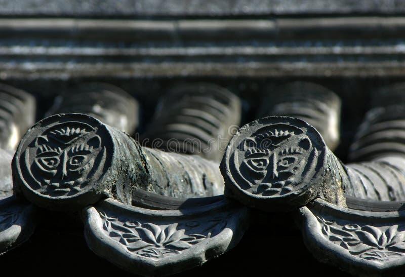 starożytnej Beijing płytki dachowe porcelanowa szare fotografia royalty free