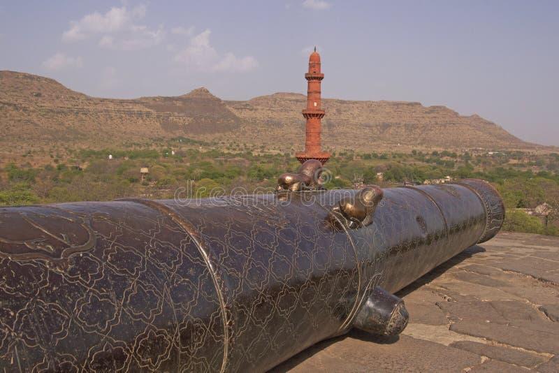 starożytni działających daulatabad fort indu fotografia stock