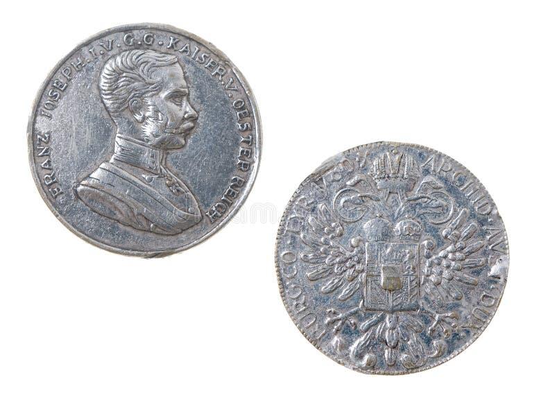 starożytny austriacki monety imperium. obrazy royalty free