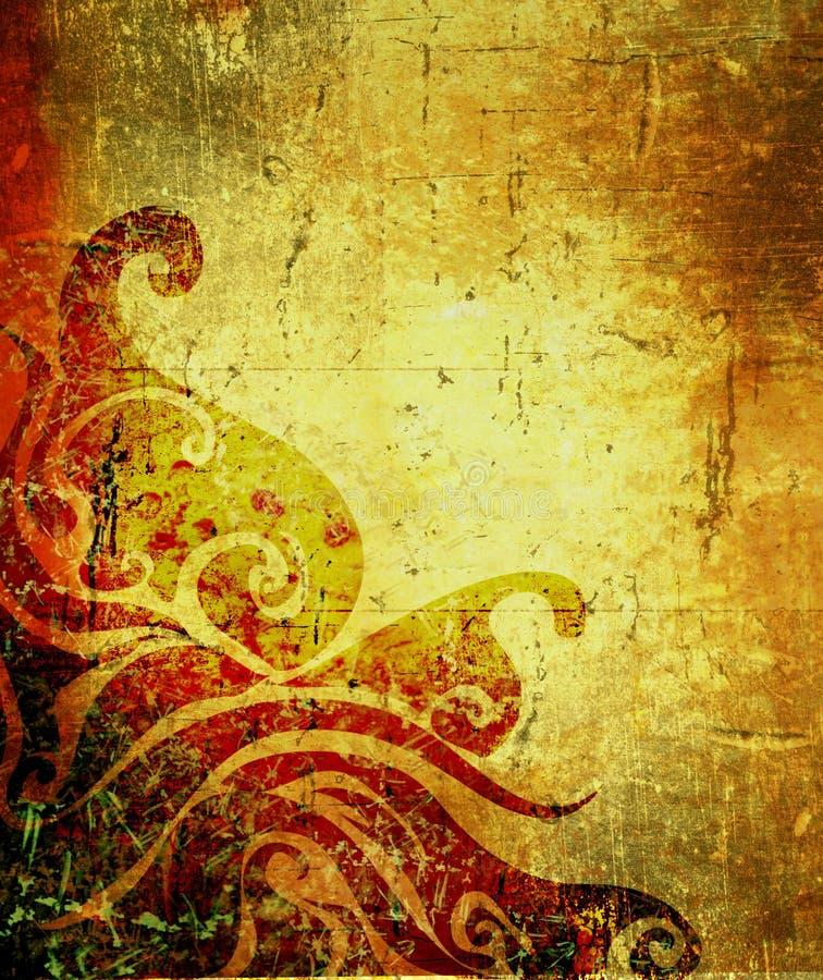 starożytny backgorund crunch royalty ilustracja