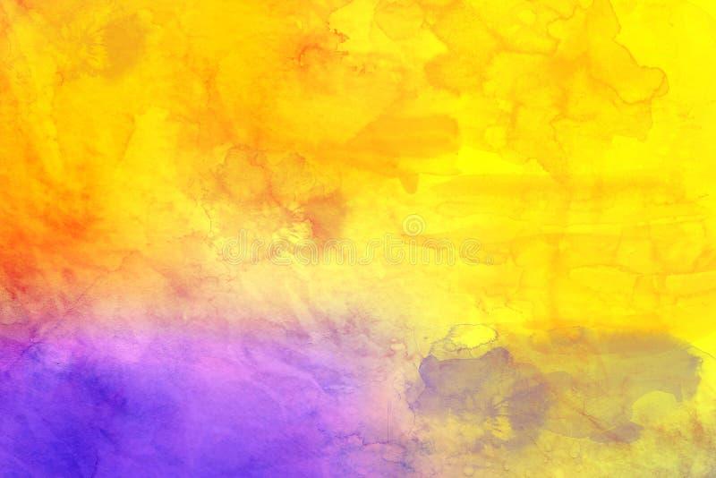 starożytny ciemności tła papieru akwareli żółty ilustracji