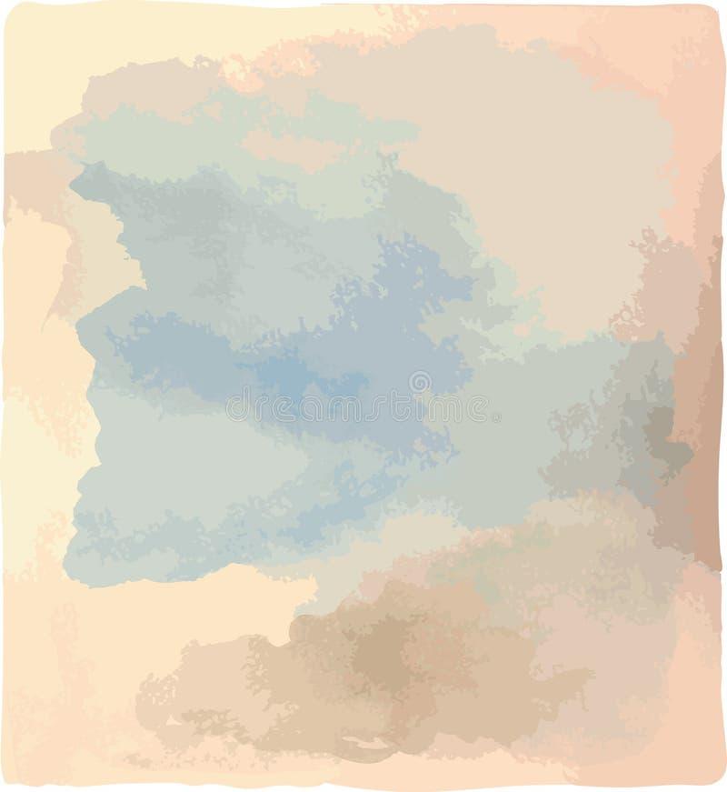starożytny ciemności tła papieru akwareli żółty Cienie chmurny niebo royalty ilustracja